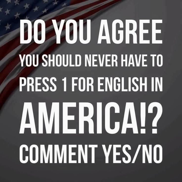 English first! We live in America and everyone should learn to speak the language...