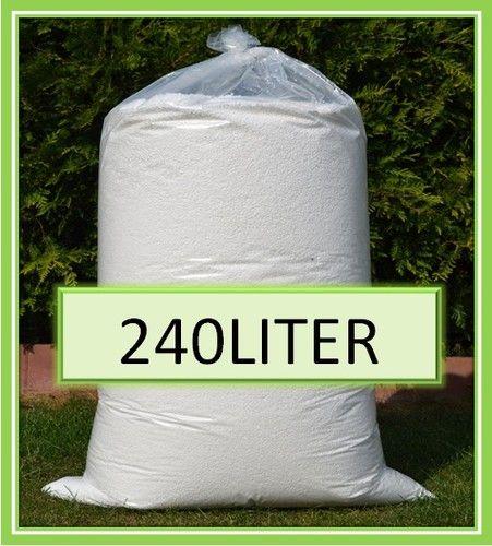 240L Sitzsack Füllung Füllmaterial Styroporkügelchen Dämmung weiß 0,06€/Liter   eBay