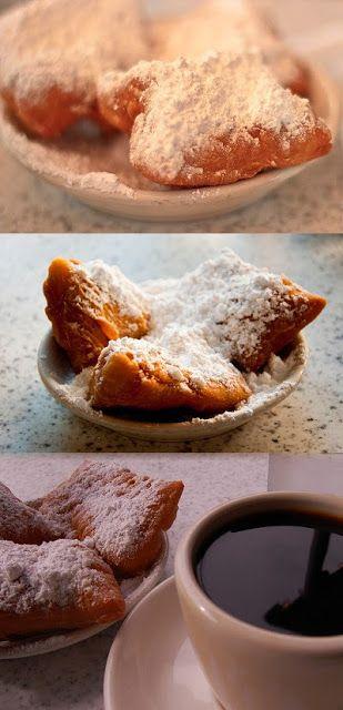 Recipe | Beignets with Powdered Sugar ~ New Orleans Breakfast Dougnuts :: #diy #dessert