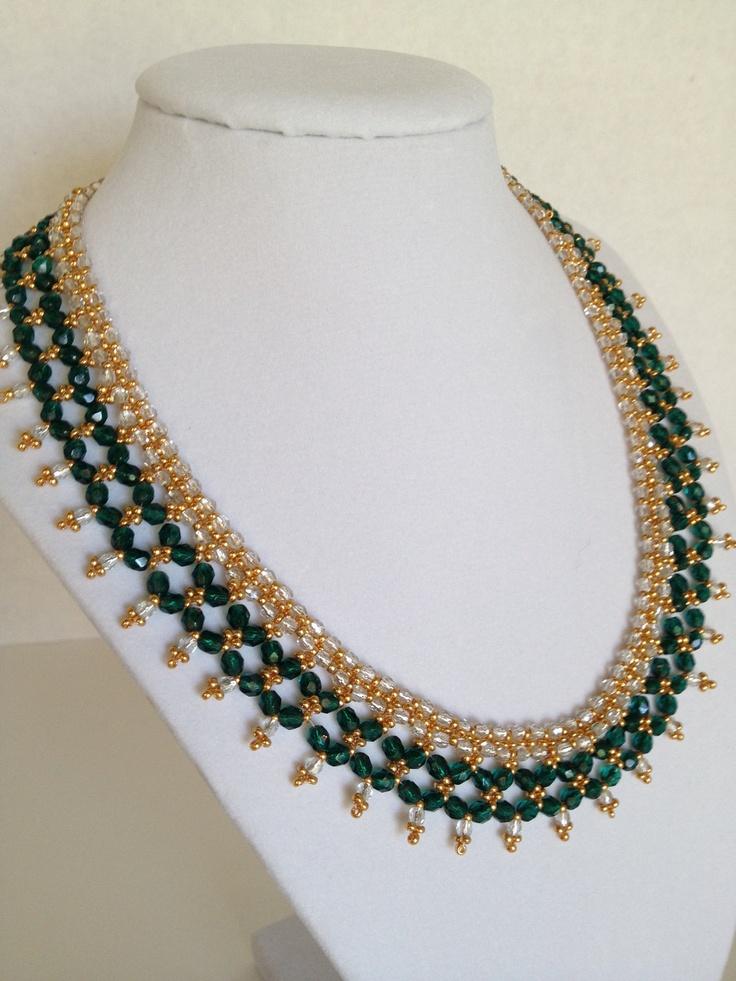 Renaissance Feel (Emerald Green) Necklace. $60.00, via Etsy.