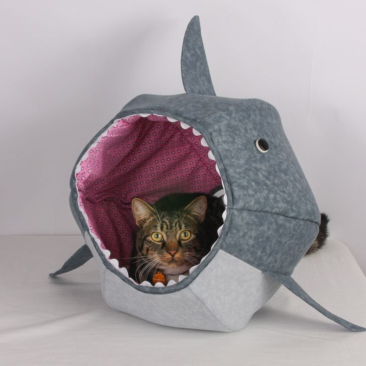 thecatball.com - the great white shark cat bed 99US