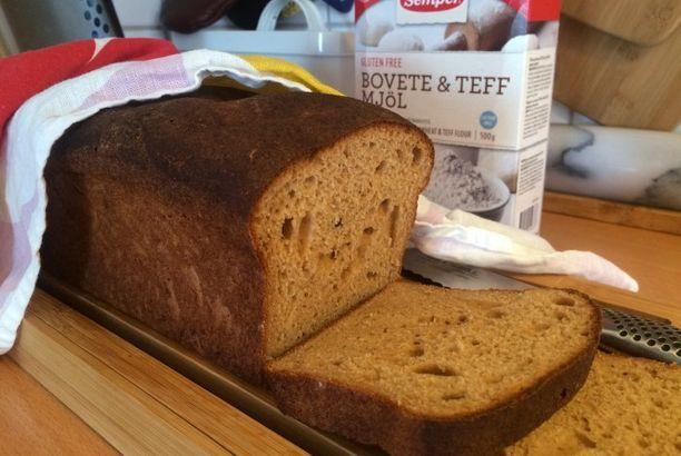 Glutenfritt bröd med bovete och teff
