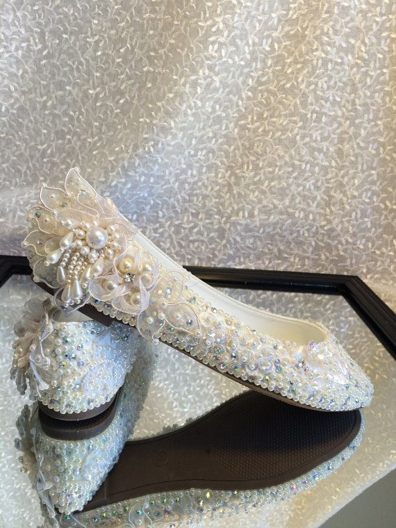 Hand Made Girl Dress Shoes Embelished with by Elfinacreation