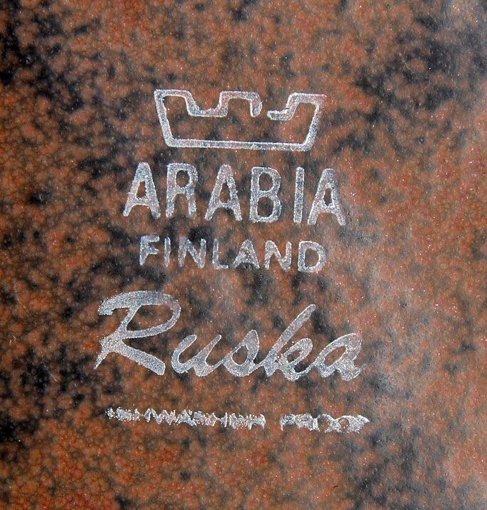 Arabia Ruska. Kaffe/middagsservice af stentøj, 80 dele