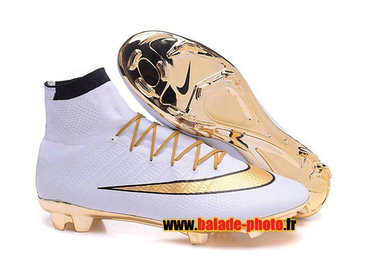 2016 Nike Mercurial Superfly édition du 15e anniversaire FG Soccer Bottes or blanc 5915