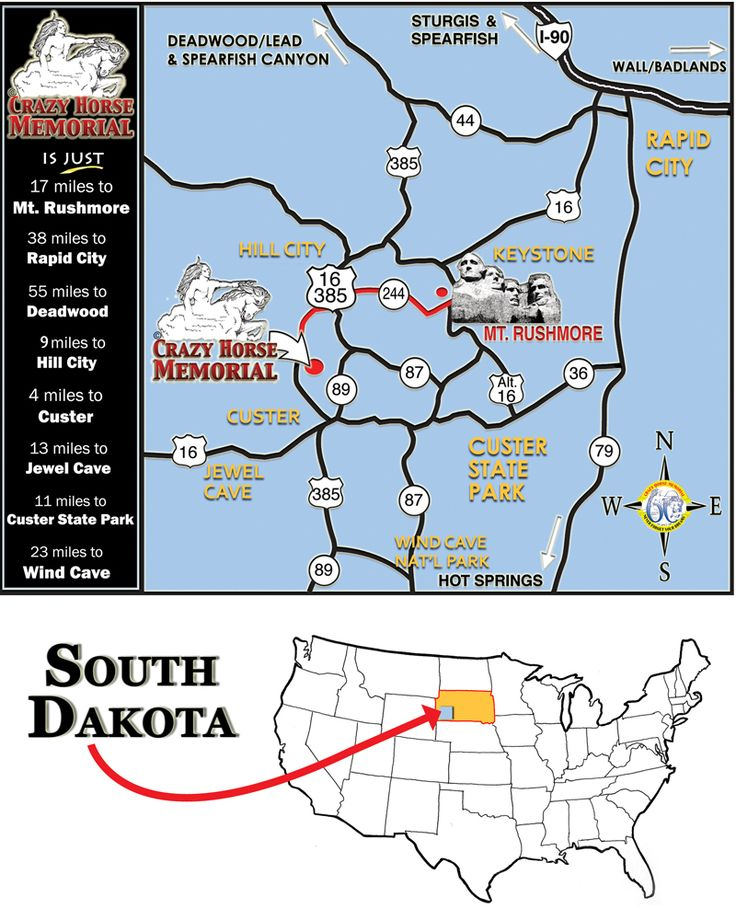 Best Crazy Horse Monument SD Images On Pinterest Crazy - Us map highlight south dakota
