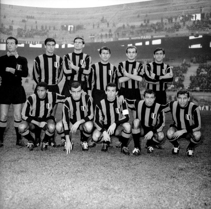 Inter's starters for the 1964 European Cup final against Real Madrid:  Giuliano Sarti, Armando Picchi, Aristide Guarneri, Tarcisio Burgnich, Giacinto Facchetti, Carlo Tagnin, Luis Suárez, Mario Corso, Jair da Costa, Sandro Mazzola, Aurelio Milani