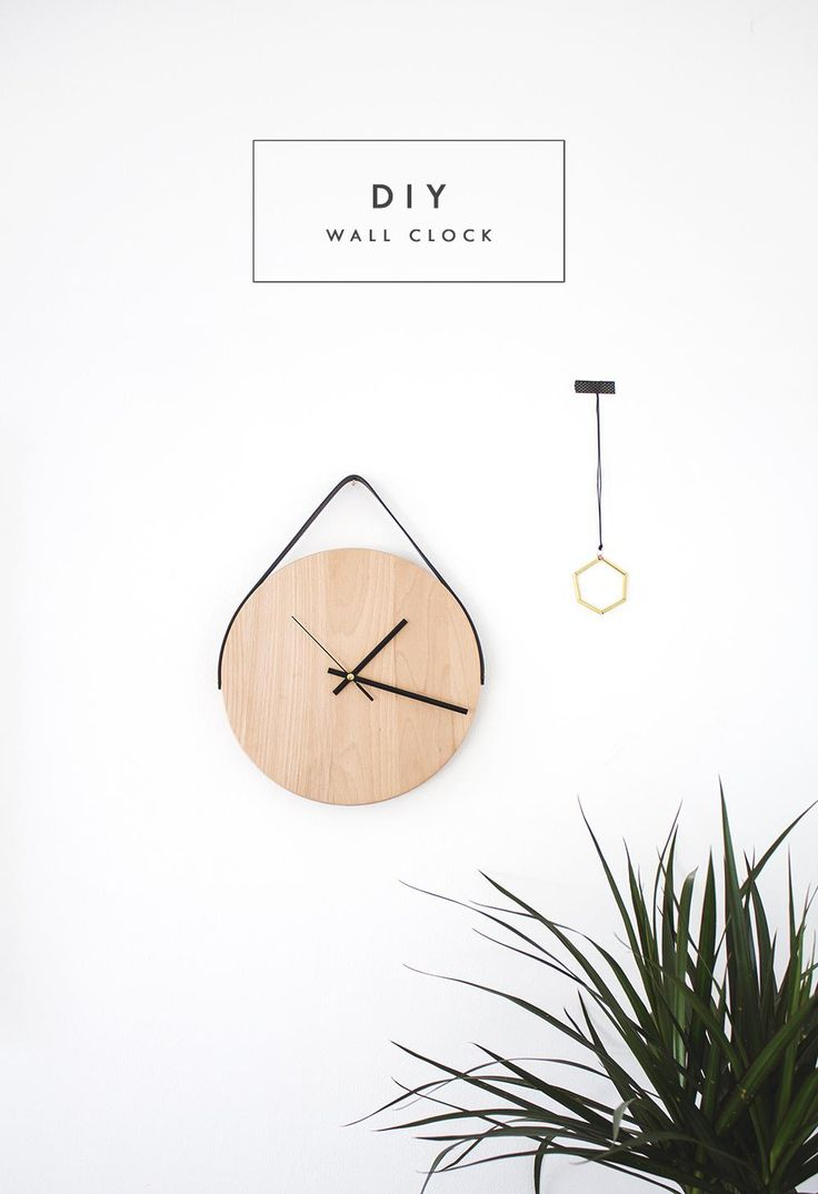 Time to craft this minimalist clock! #DIY