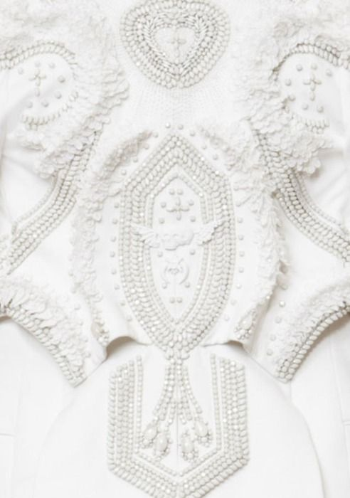white couture details