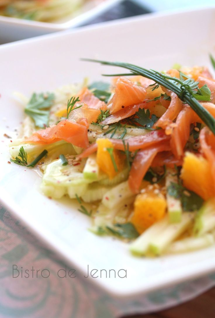 Les 25 meilleures id es de la cat gorie truite fum e sur for Salade pour accompagner poisson