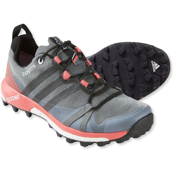 Adidas Women's Terrex Agravic Gore-Tex Trail Running Shoes ($150) ❤ liked on Polyvore featuring shoes, athletic shoes, adidas, adidas footwear, lightweight waterproof shoes, traction shoes and water proof shoes