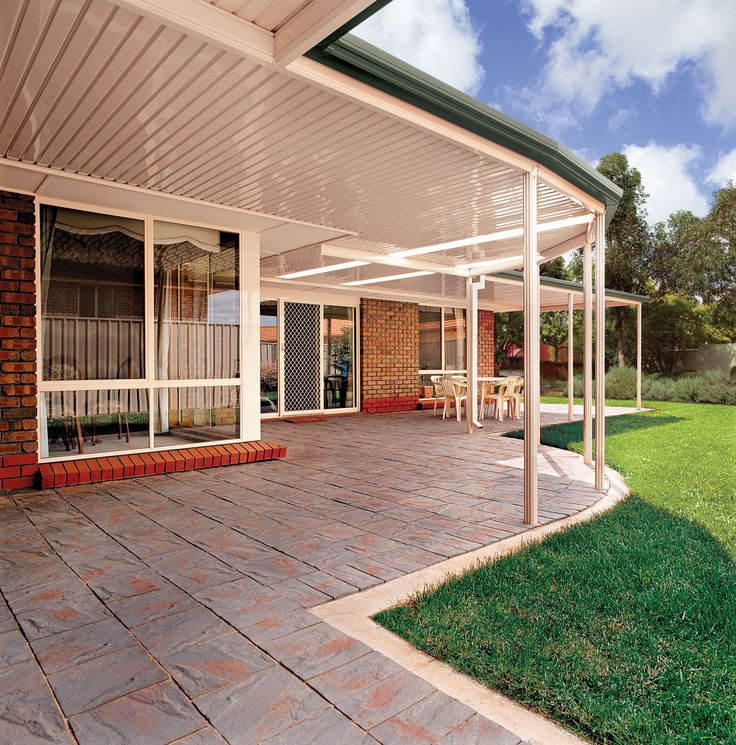 A quality flat roof patio is an easy and inexpensive way to add value to your home. By expanding your outdoor living space you can make your home seem much larger and get more use of your outdoor space. A Stratco Outback flat roof patio can be a standalone carport or a patio attached to your existing home. Add it on as a verandah to wrap around your house or just add a simple carport to add sun protection for your car/boat/caravan or more. Brisbane Patio,  www.hats4houses.com.au