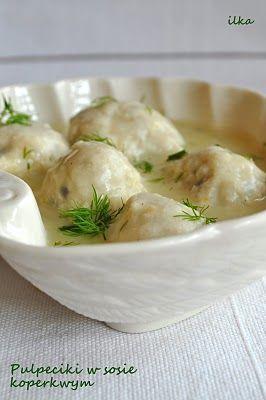 Pulpeciki w sosie koperkowym. (Chicken meatballs in dill sauce)