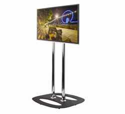 """Flat screen display stand capable of housing various screen types – LED or LCD screens or Plasma up to 55"""", """" or Digital Advertising screens up to 40"""". If you want to use a Touch screen max size is dependent on the type of touch screen being used – contact us."""