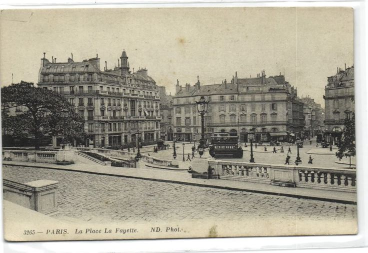 urbitrend-collectables - 1 postcard France 75 Paris La Place La Fayette - tram, €1.99