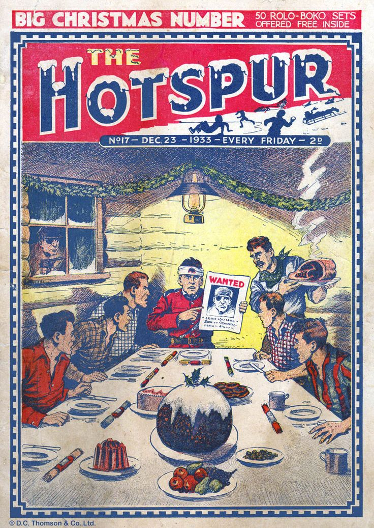The Christmas edition of The Hotspur comic, December 1933