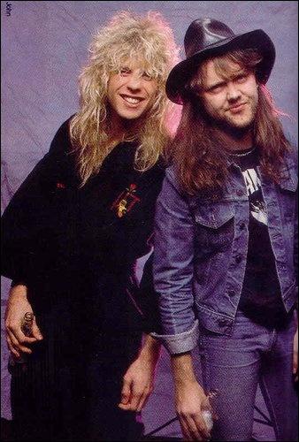 Steven Adler(Guns N'Roses drummer) Lars Ulrich (Metallica drummer)