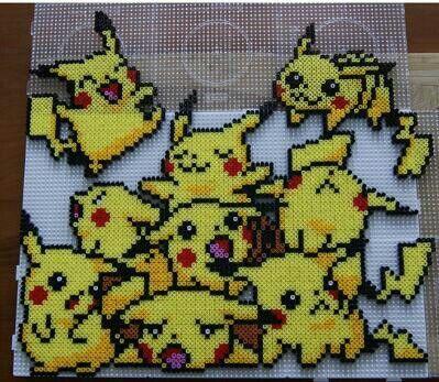 Cute pikachu hama bead