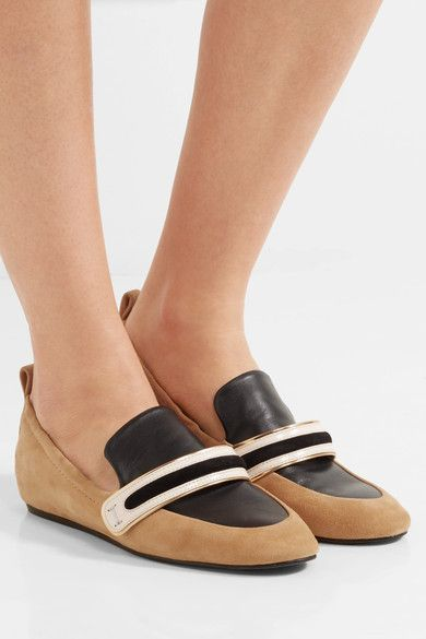 Camel and black suede, cream patent-leather, black and gold matte-leather Slip on Designer color: Saharan Made in Italy