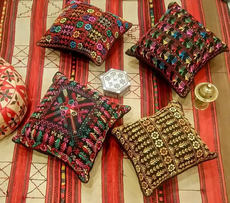 Palestinian Embroidery Cushion