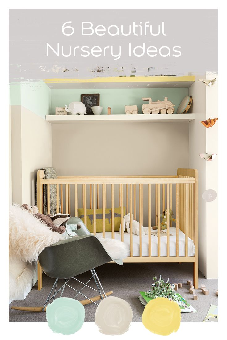 Find the perfect scheme for your newborn with these 6 beautiful nursery ideas in new Dulux Easycare.