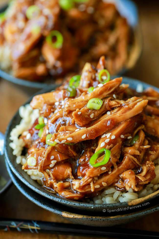 Sweet & Sticky Slow Cooker Honey Garlic Chicken is quick to prep and loaded with flavor! Serve this easy Asian dish with rice and a side of steamed veggies for a great meal!