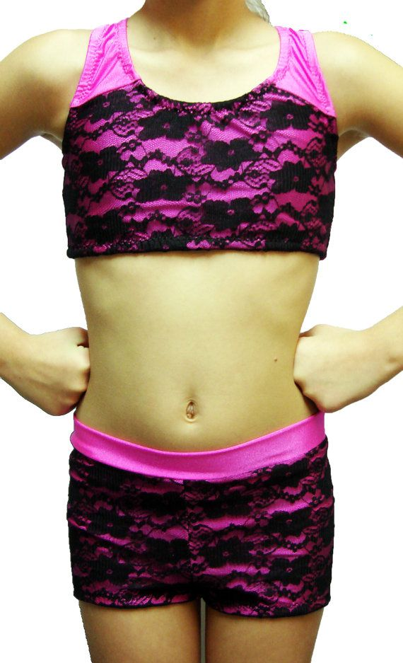 Adorable Lacy Race Back Dance Outfit  Just by DanceMomsDanceWear, $58.00