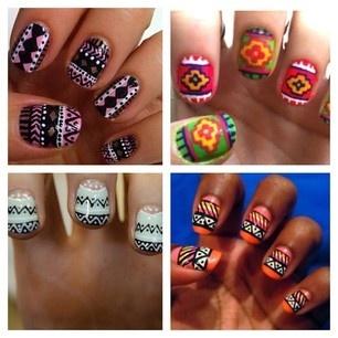 #tribal #tribal #tribalTribal Tribal, Nails Art, Summer Nails, Nails Ideas, Tribal Nails, Tribal Prints, Tribal Pattern, Aztec Nails, Tribal Style