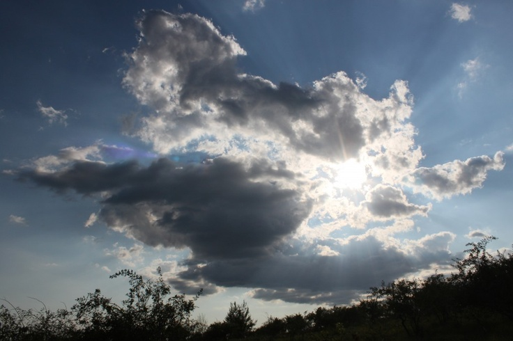 Bright Sun Rays through Dark Clouds, Summer - Public Domain Photos, Free Images for Commercial Use