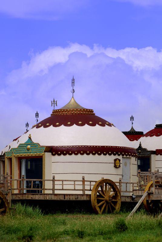 472 mejores im genes de yurt en pinterest dormitorios - Casas de madera redondas ...