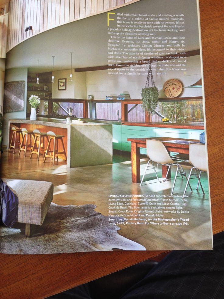 Concrete kitchen and window splash back