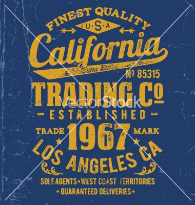 Vintage type lockup apparel design vector