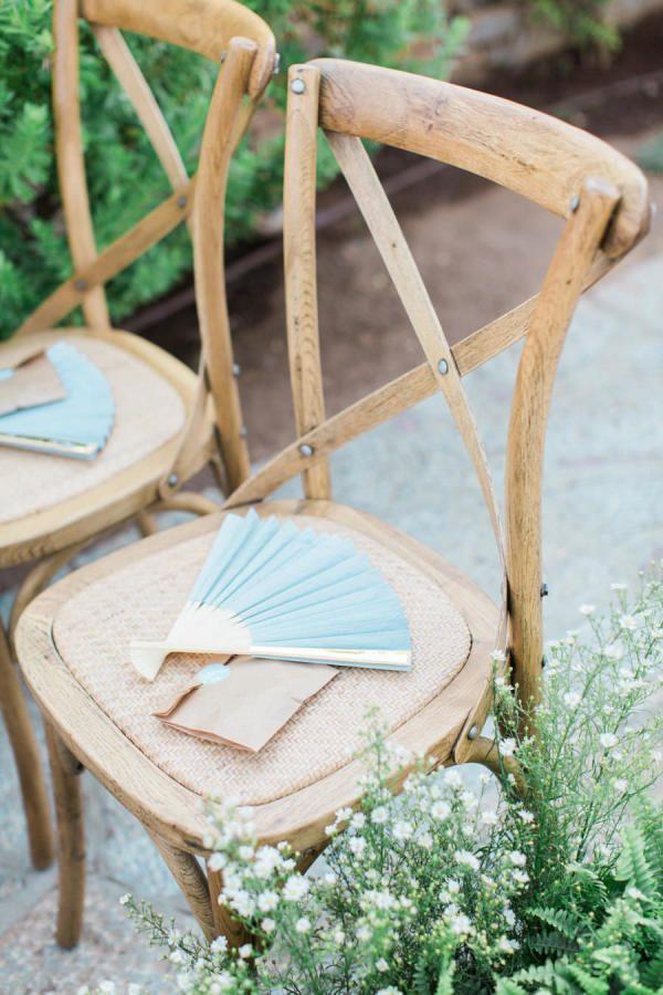 rustic fan favors ideas for summer wedding