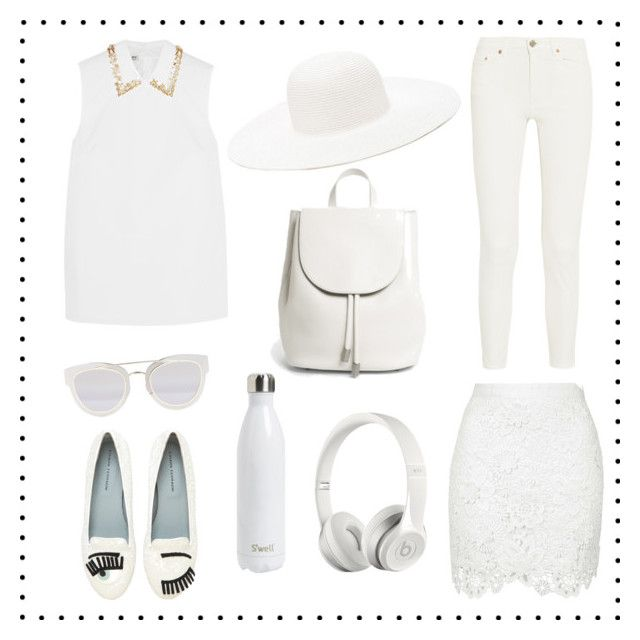 The White Stuff For Spring by fashion-mama-aquarius on Polyvore featuring polyvore, mode, style, Miu Miu, Acne Studios, Chiara Ferragni, Forever 21, Christian Dior, S'well, Beats by Dr. Dre, fashion and clothing