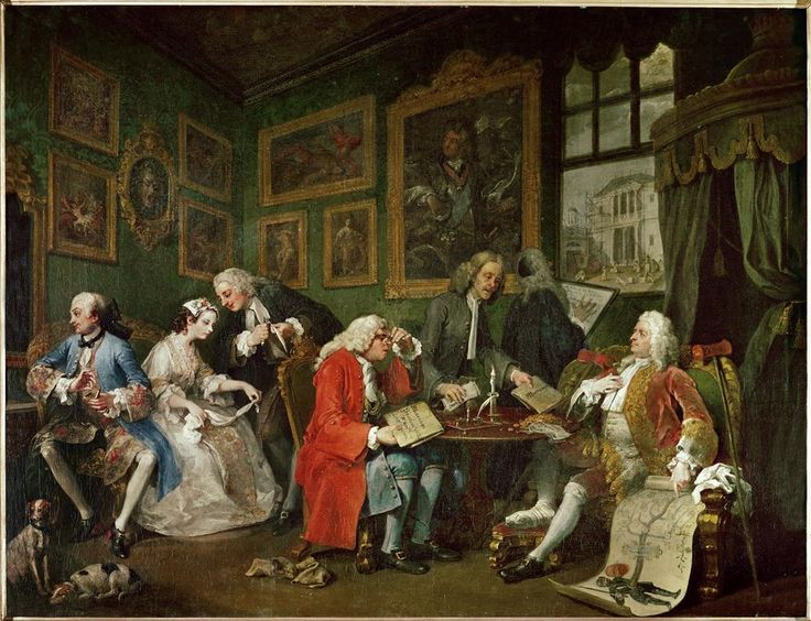 Marriage a la mode-1744-William Hogarth- olio su tela-National Gallery-Londra