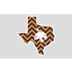 Texas State University Bobcat Chevron Car Decal $4