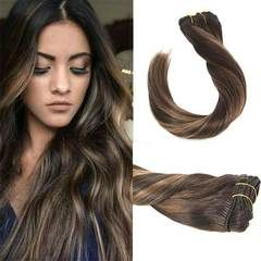 Balayage Brown Clip in Remy Human Hair Extensions #2/2/6