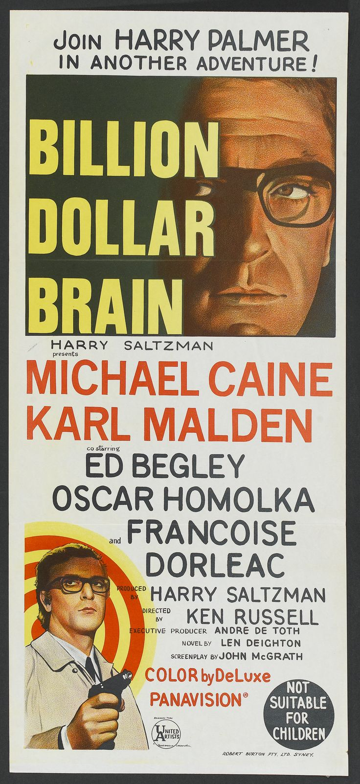 Billion Dollar Brain (1967) HD - Comedy, Thriller - Michael Caine, Karl Malden, Ed Begley, Françoise Dorléac, Susan George - Harry Palmer (Caine) is a former British secret agent who has taken up work as a private detective. An anonymous party hires him to deliver a seemingly normal package to Helsinki. However, he learns that he has been deceived into working for the Secret Service again.
