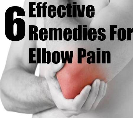 5 Effective Remedies For Elbow Pain. Ice, heating pad, counterforce brace, rest, NSAIDs. Elbow pain can be due to tendinitis, which is of many types including tennis elbow, golfers elbow, olecranon bursitis, broken elbow and elbow sprain. Elbow pain can be due to some diseases like arthritis, cellulitis, septic arthritis, tumors and ulnar nerve entrapment. s.