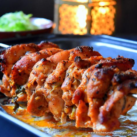 Turkish Chicken Doner Kebabs @ Home. Spicy, moist Chicken Kebabs marinated in authentic turkish spices and roasted in the oven/ grill
