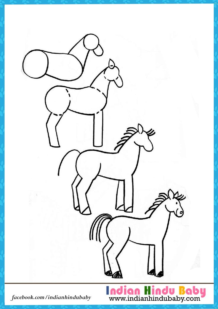 Steps For Horses : Best images about drawing tips for kids on pinterest