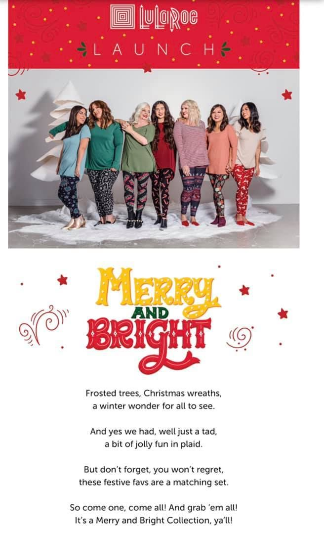 d445115005356 The 2018 LuLaRoe Holiday Leggings Collection, Merry & Bright, is here! This  year's prints include fun kitschy animal prints, traditional ornaments, ...