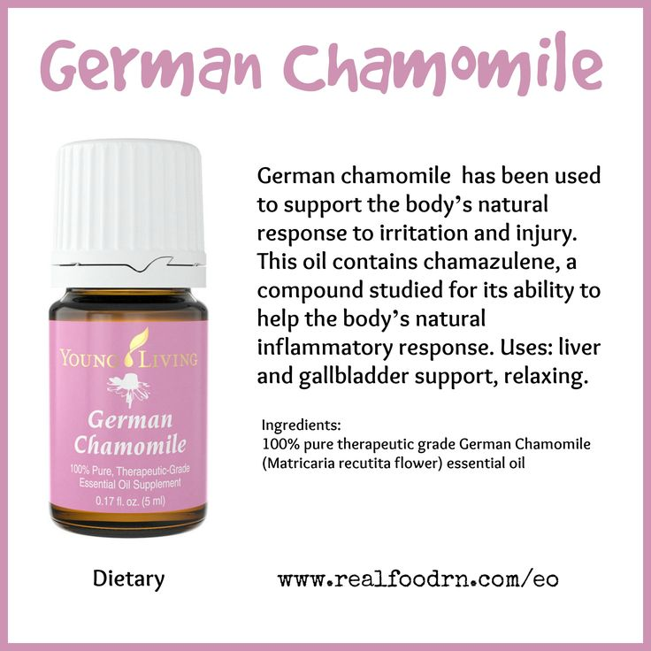 German Chamomile Essential Oil. Help the body's natural inflammatory response. #germanchamomile #essentialoils
