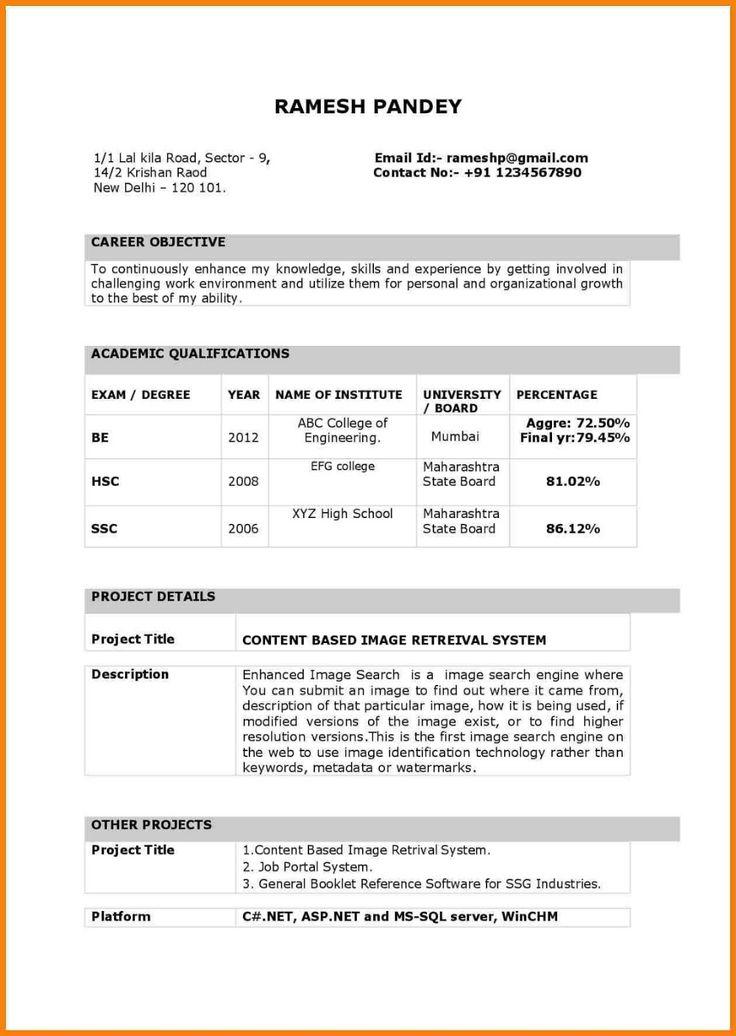 Biodata Model 2019 Biodata Model Pdf 2020 Resume format