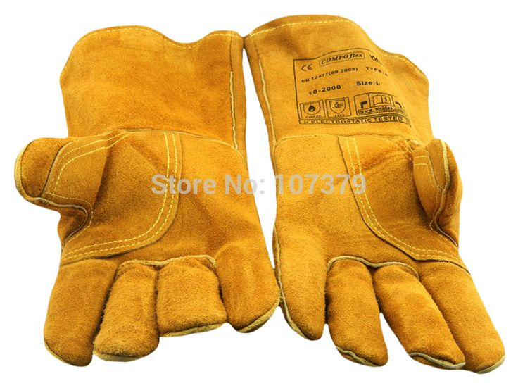 Leather Work Gloves TIG MIG Cow Split Leather Welding Glove #Affiliate