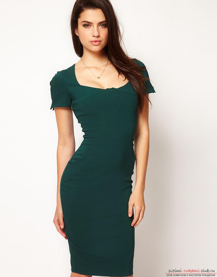Шьём стильное платье-футляр своими руками: выкройка и фото. Фото №1