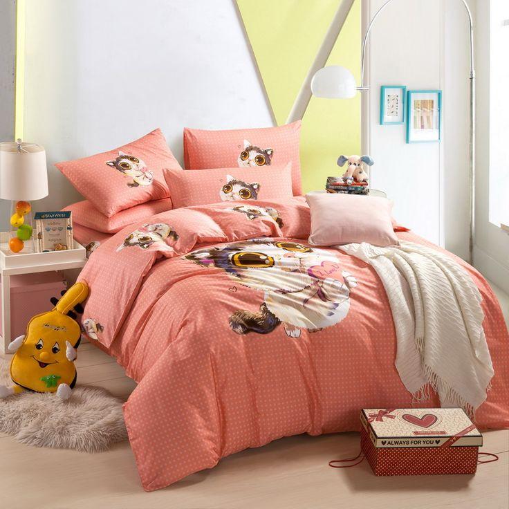 Cute Kitten Orange Cartoon Bedding Kids Bedding Girls Bedding Teen Bedding.  Teen BeddingCute KittensScandinavian DesignCartoon Part 21