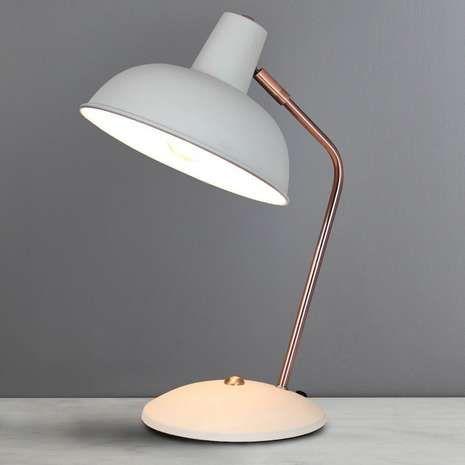 Elements Leiden Grey Desk Lamp | Dunelm