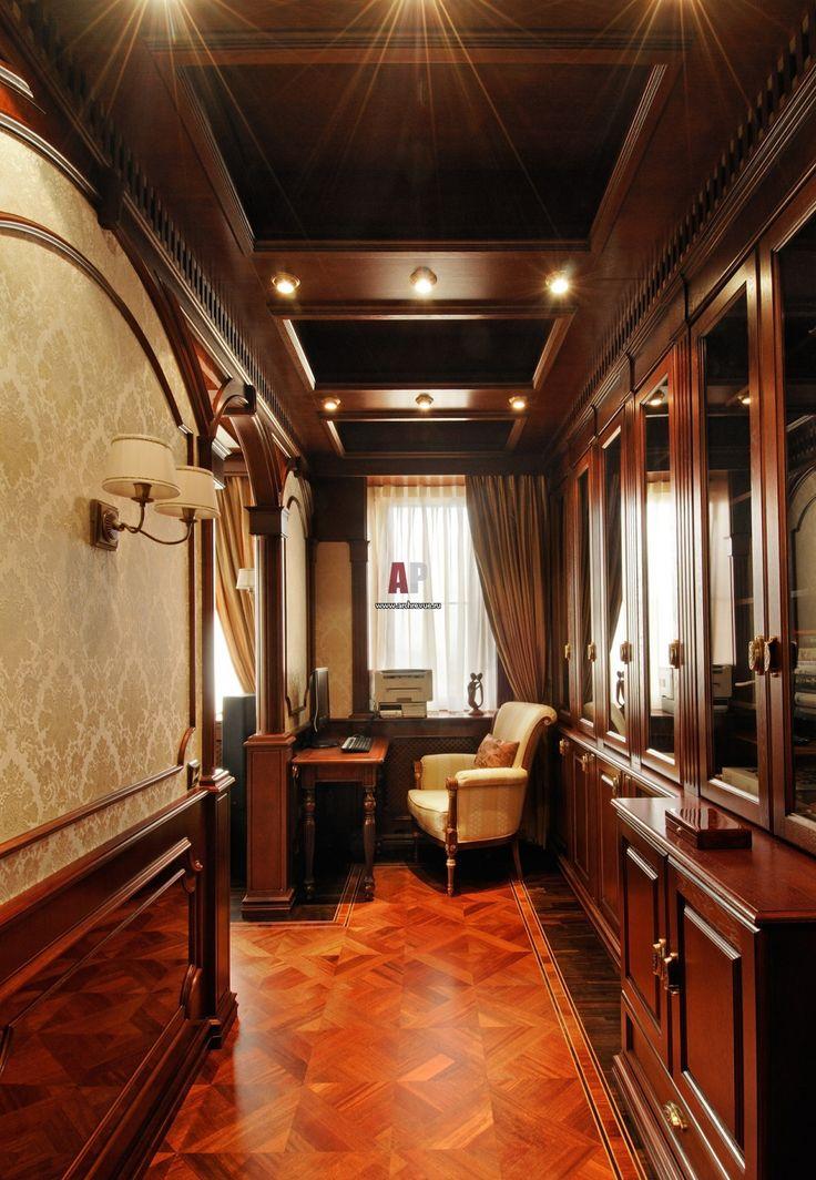 Фото интерьера кабинет квартиры в неоклассическом стиле