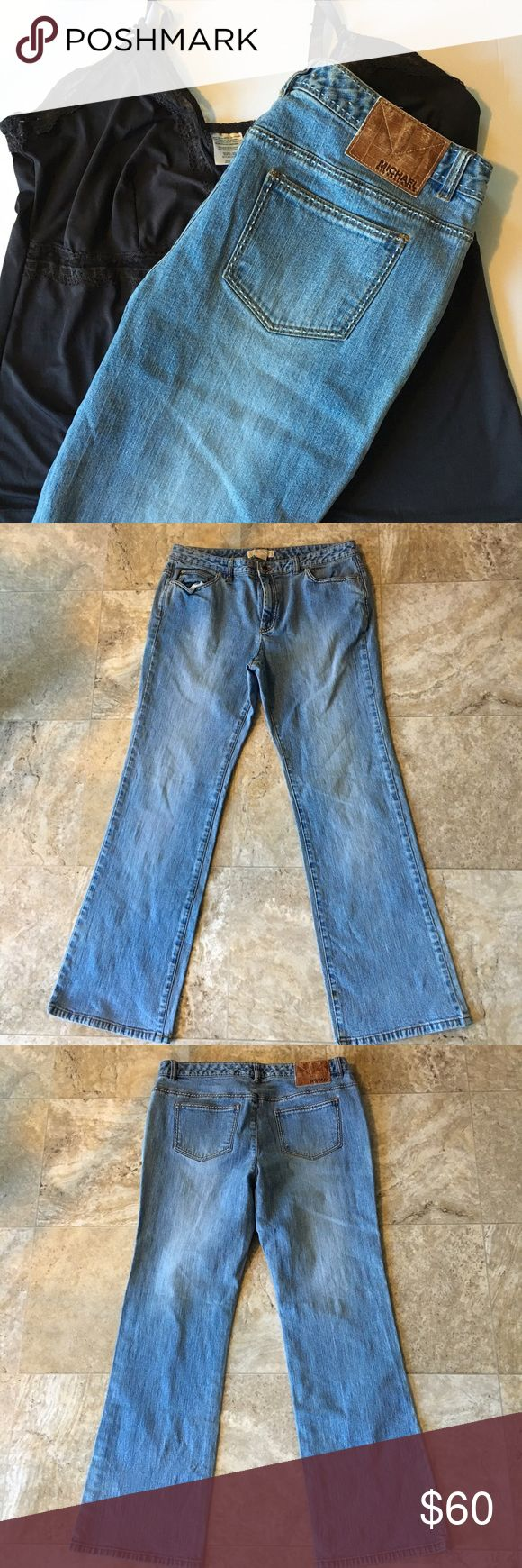 Michael Kors light blue jeans ✅offers welcome✅ 💖no trades💖 Very lightly worn and still in great condition besides a small stain at the bottom of the jeans that is shown in the last picture. Perfect to wear with a simple t-shirt or a dressy blouse. Feel free to ask for measurements Material: 99% cotton, 1% spandex Michael Kors Jeans